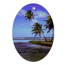 South Caye Belize 14x10 Oval Ornament