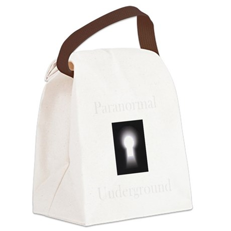 New on Dark clothes logo.gif Canvas Lunch Bag