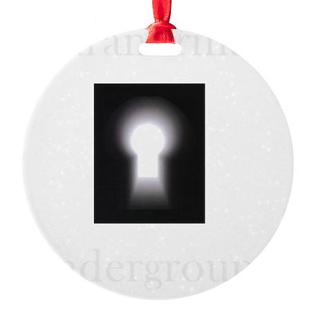 New on Dark clothes logo.gif Round Ornament