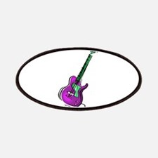 Guitar purple green shaded graphic Patches