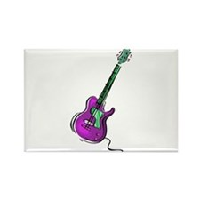 Guitar purple green shaded graphic Magnets