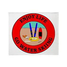 waterski2 Throw Blanket