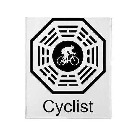 2-Cycling_men Throw Blanket