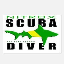 Scuba Diver Shark NITROX  Postcards (Package of 8)