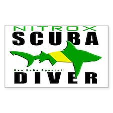 Scuba Diver Shark NITROX 6.5x1 Decal