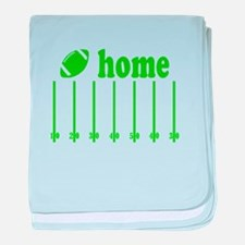 Home is a Football Field baby blanket