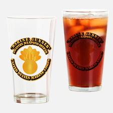 USMC - Marine Gunner Drinking Glass