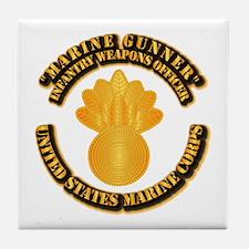 USMC - Marine Gunner Tile Coaster