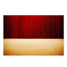 Theater stage curtains Postcards (Package of 8)