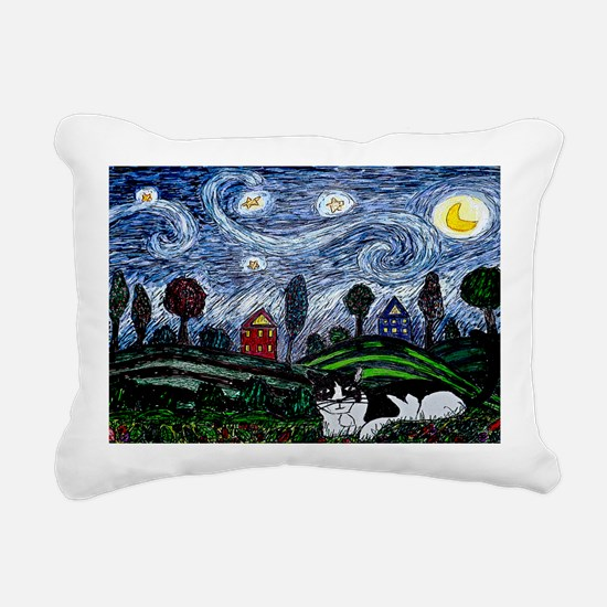 thinking of stars large  Rectangular Canvas Pillow