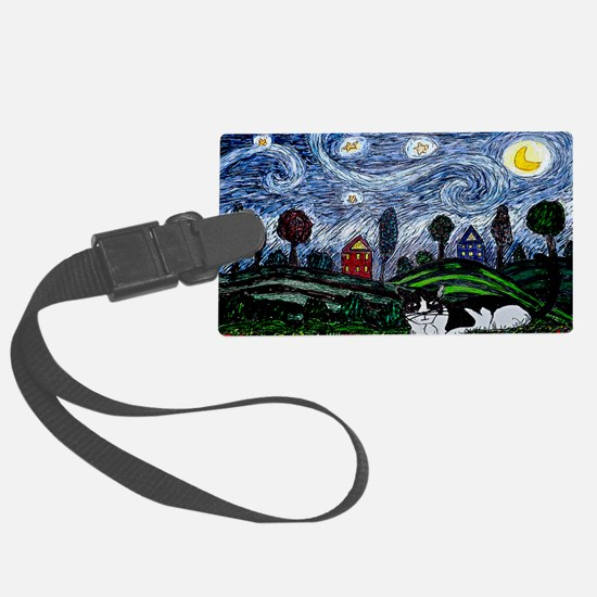 thinking of stars large poster Luggage Tag