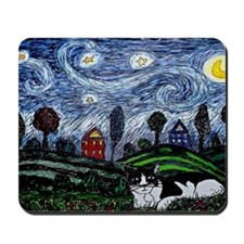thinking of stars large poster Mousepad