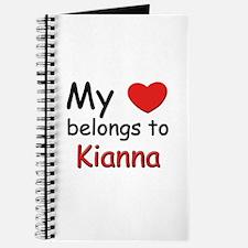 My heart belongs to kianna Journal
