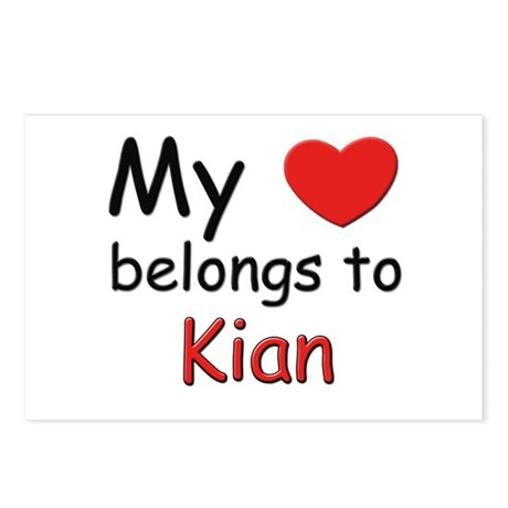 My heart belongs to kian Postcards (Package of 8)