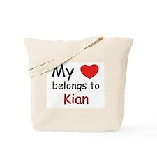 My heart belongs to kian Tote Bag