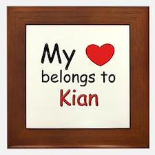 My heart belongs to kian Framed Tile