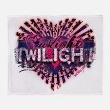 Twilight Magic Valentine Heart Throw Blanket