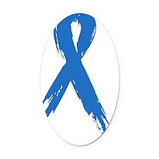 blue_ribbon Oval Car Magnet