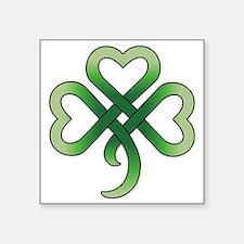 """celtic clover Square Sticker 3"""" x 3"""""""