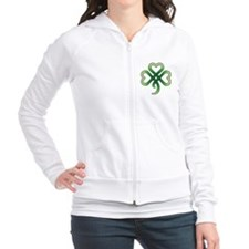 celtic clover Fitted Hoodie