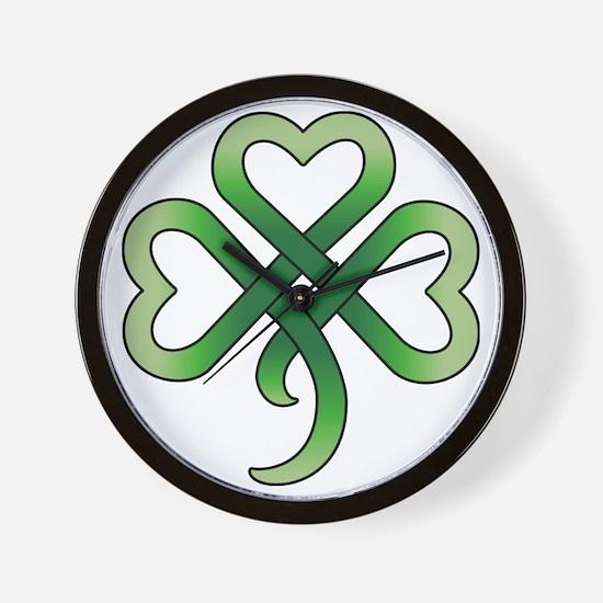 celtic clover Wall Clock