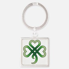 celtic clover Square Keychain