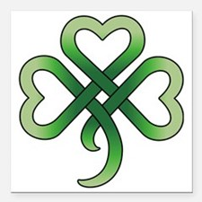 "celtic clover Square Car Magnet 3"" x 3"""