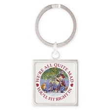 Were all quite mad_folkard red cop Square Keychain