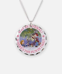 ALICE WHY BE NORMAL_pink cop Necklace