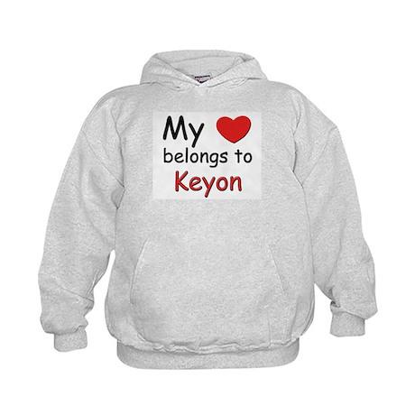 My heart belongs to keyon Kids Hoodie