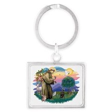 The Saint - Miniature Pinscher Landscape Keychain