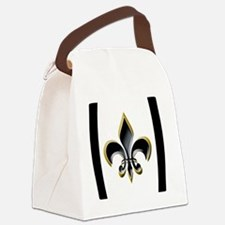 FDL on WHT Pigskin 5x3oval_sticke Canvas Lunch Bag