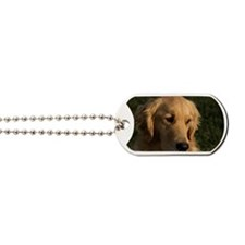 (2) golden retriever head shot Dog Tags