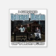 "retirementmansionshirt Square Sticker 3"" x 3"""