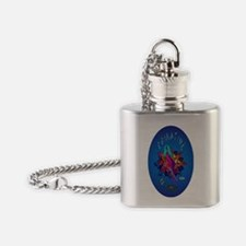 BLUE GIRL PROOF STICKER Flask Necklace