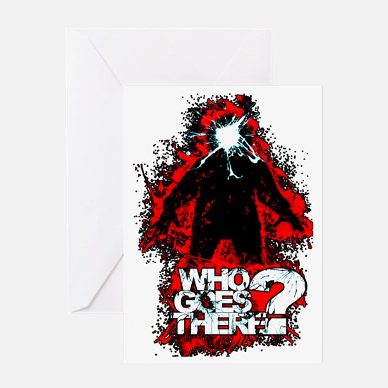 WhoGoesThere2 Greeting Card