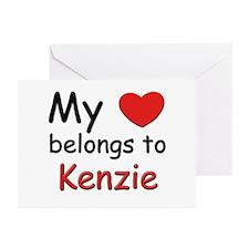 My heart belongs to kenzie Greeting Cards (Package