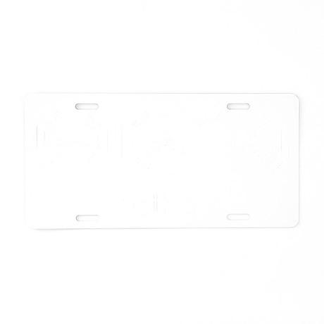 4-Triathlete_men-white Aluminum License Plate