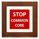 Stop Common Core Framed Tile