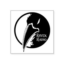 "raven_logo4 Square Sticker 3"" x 3"""