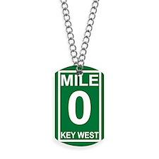5-milezerorectanglesticker Dog Tags