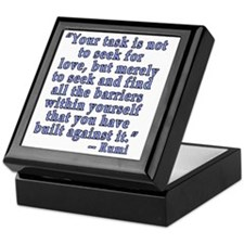 RUMI Quote about Love Keepsake Box