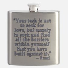 RUMI Quote about Love Flask