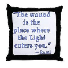 Rumi Quote Spiritual Throw Pillow