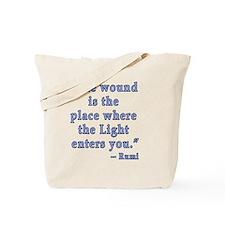 Rumi Quote Spiritual Tote Bag