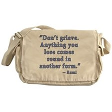 Rumi Quote about Grief Messenger Bag