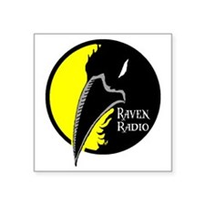 "raven_logo4color Square Sticker 3"" x 3"""