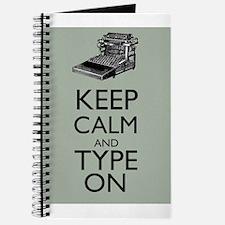 Keep Calm and Type On Writer Author Typewriter Jou