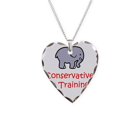 Conservative In Training Necklace Heart Charm