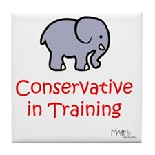 Conservative In Training Tile Coaster